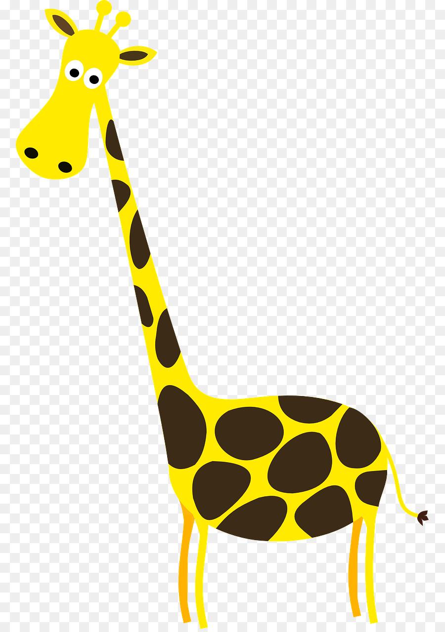 Giraffe clipart tall giraffe. Cartoon illustration