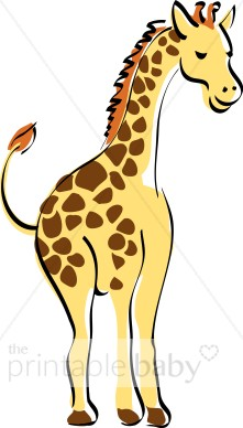 Giraffe clipart tall thing. Smiling jungle baby