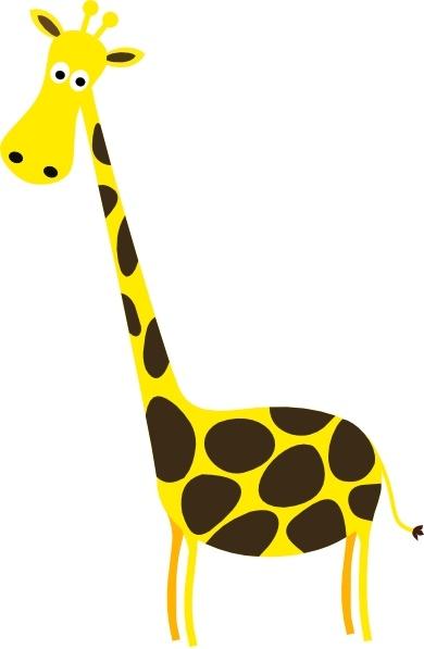 Cartoon clip art free. Giraffe clipart vector