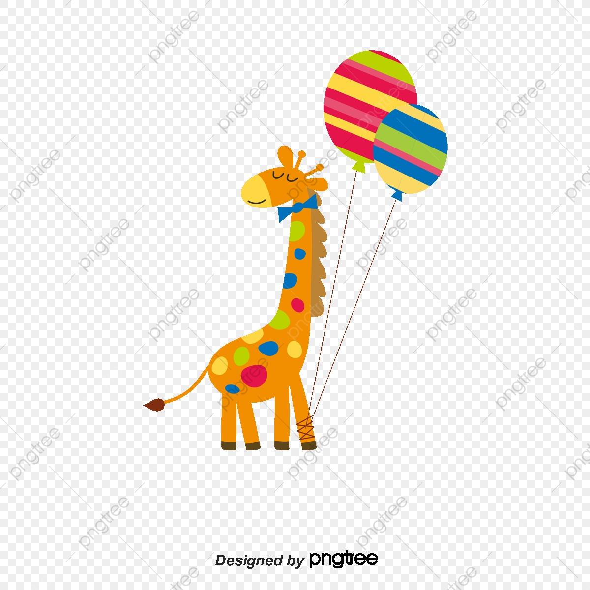 Giraffe clipart vector. Cartoon animal png and