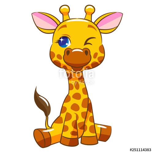 Design stock image and. Giraffe clipart vector