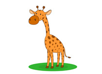 Giraffe clipart. Free clip art pictures
