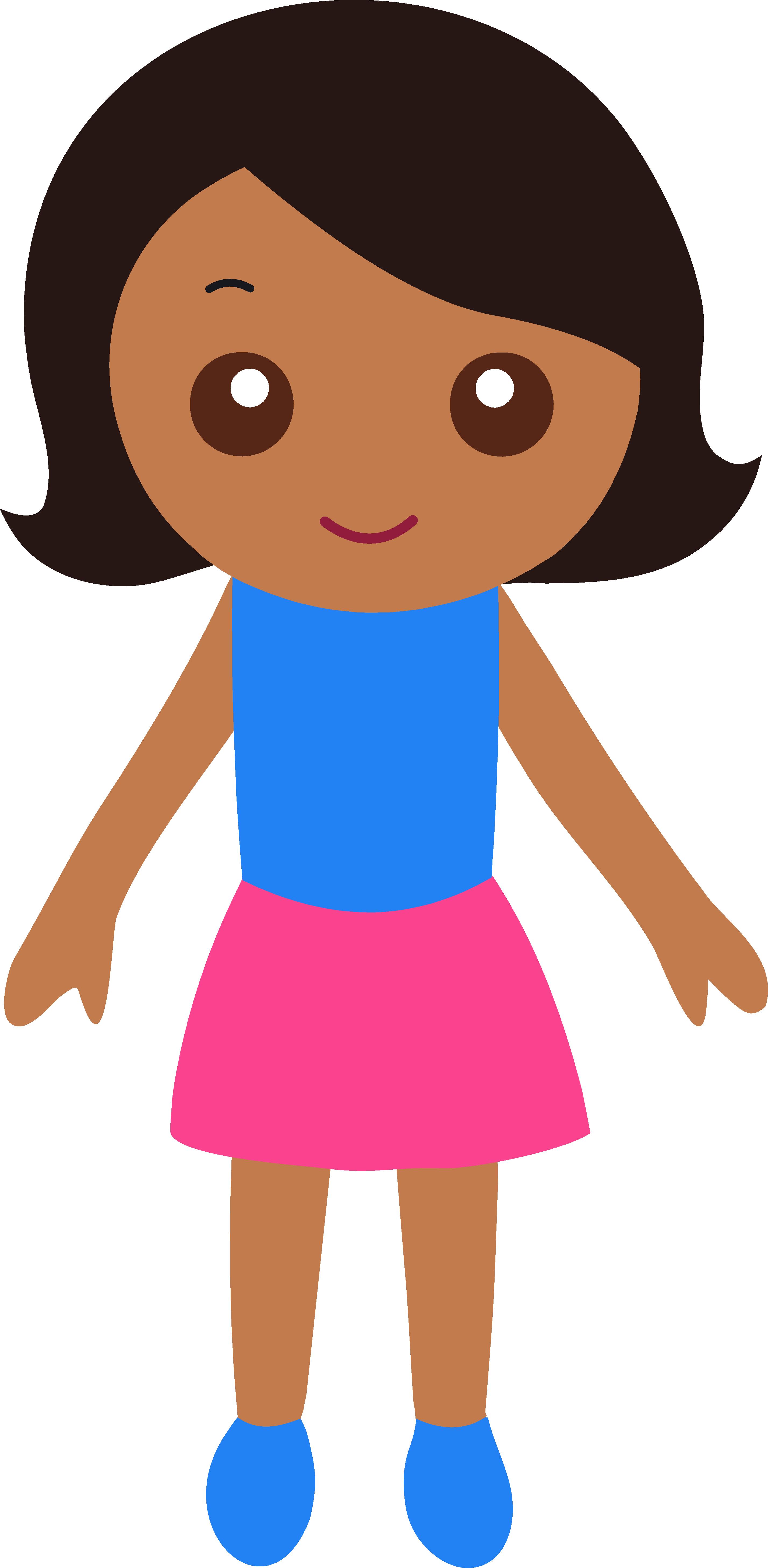 Clipart girl. Little black
