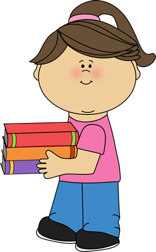Clip art images . Girl clipart book