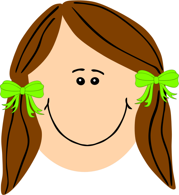 With brown long hair. Shy clipart sad girl