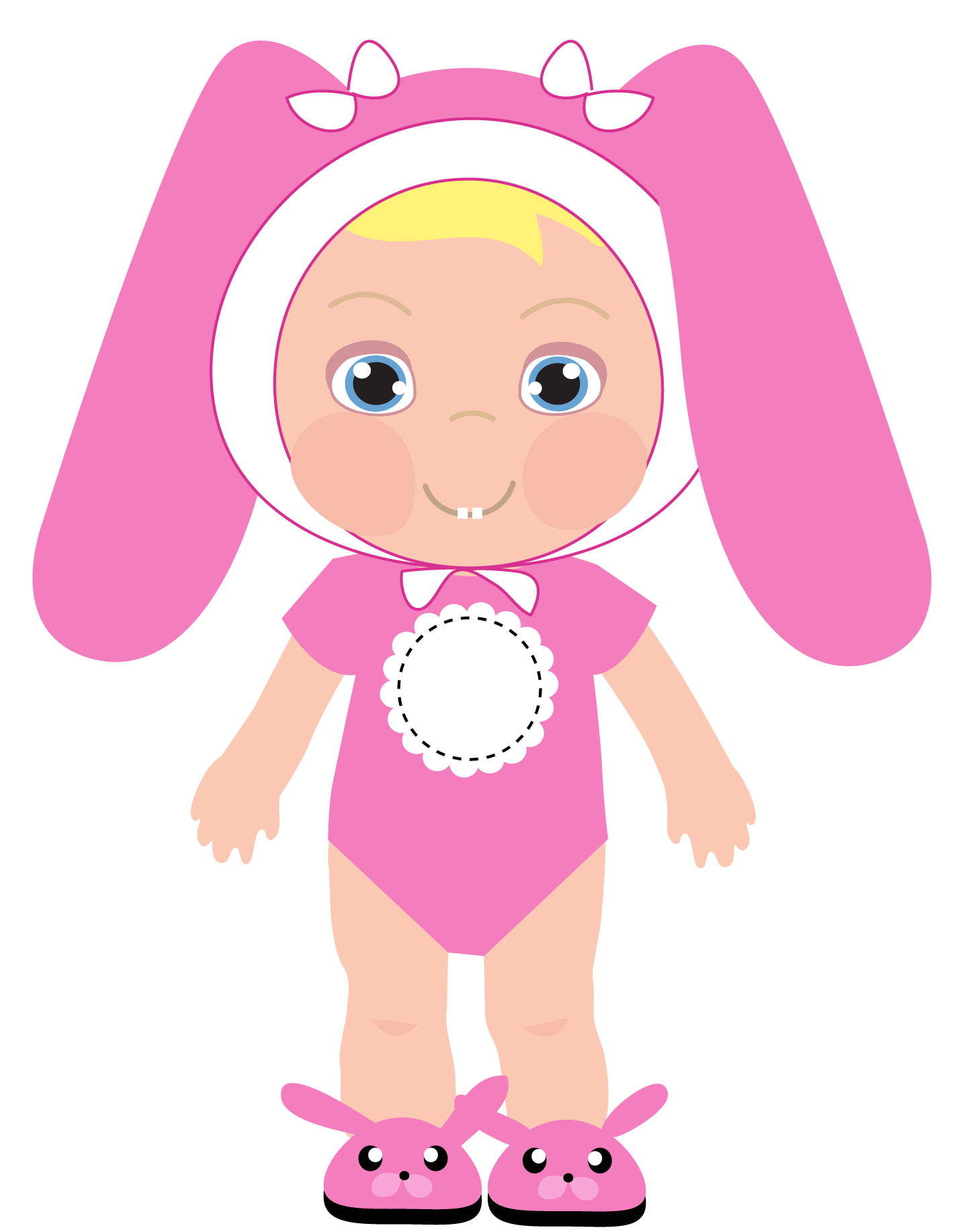 Baby girl clip art. Infant clipart year old