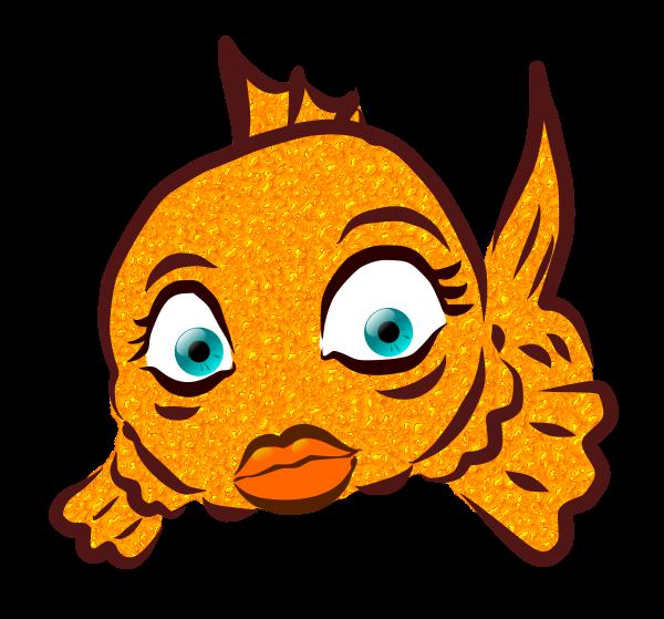 Image for girl lips. Goldfish clipart face