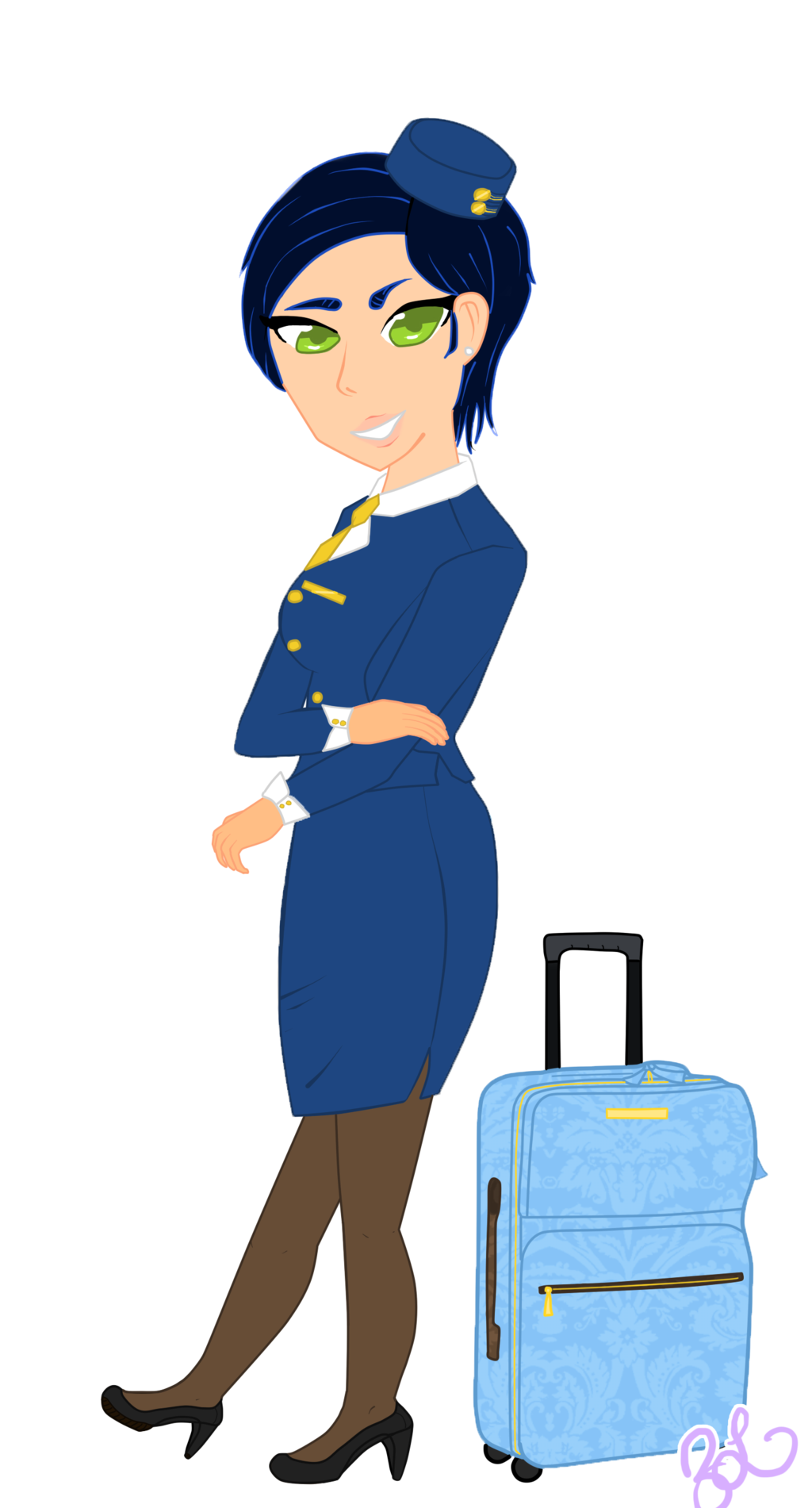 Wing clipart flight attendant.  collection of png