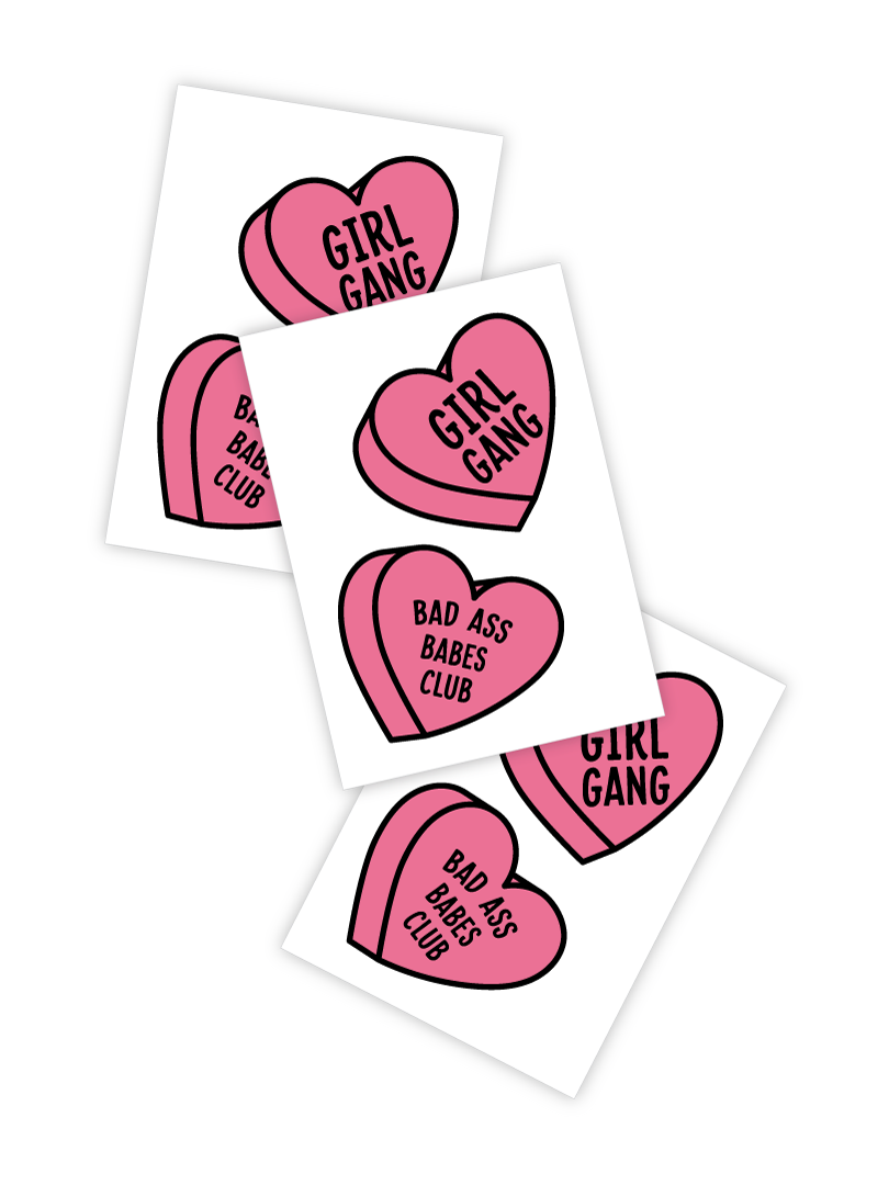 Girly clipart valentine. Girl gang and bad