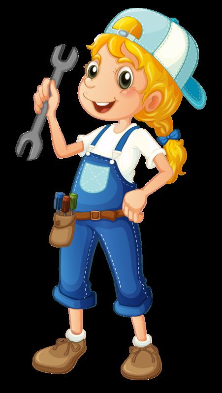 png clip art. Girls clipart construction worker