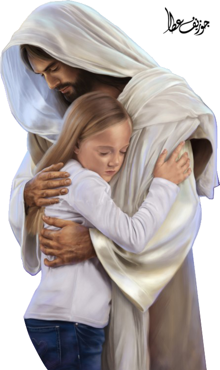 Young clipart hug. Picture of christ hugging