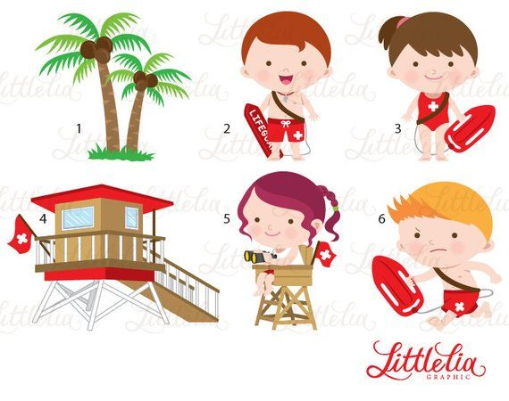 Lifeguard clipart clip art. Baywatch products