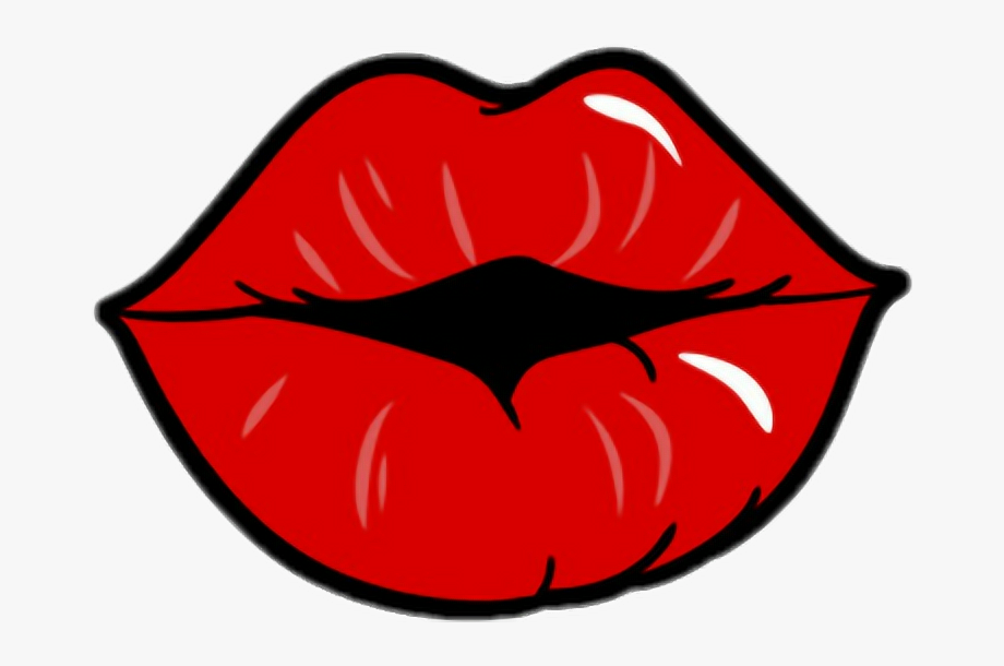 Mouth lips red redlips. Lipstick clipart girly