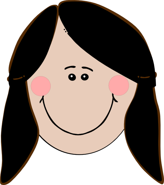 Girl clipart nose. Clip art at clker