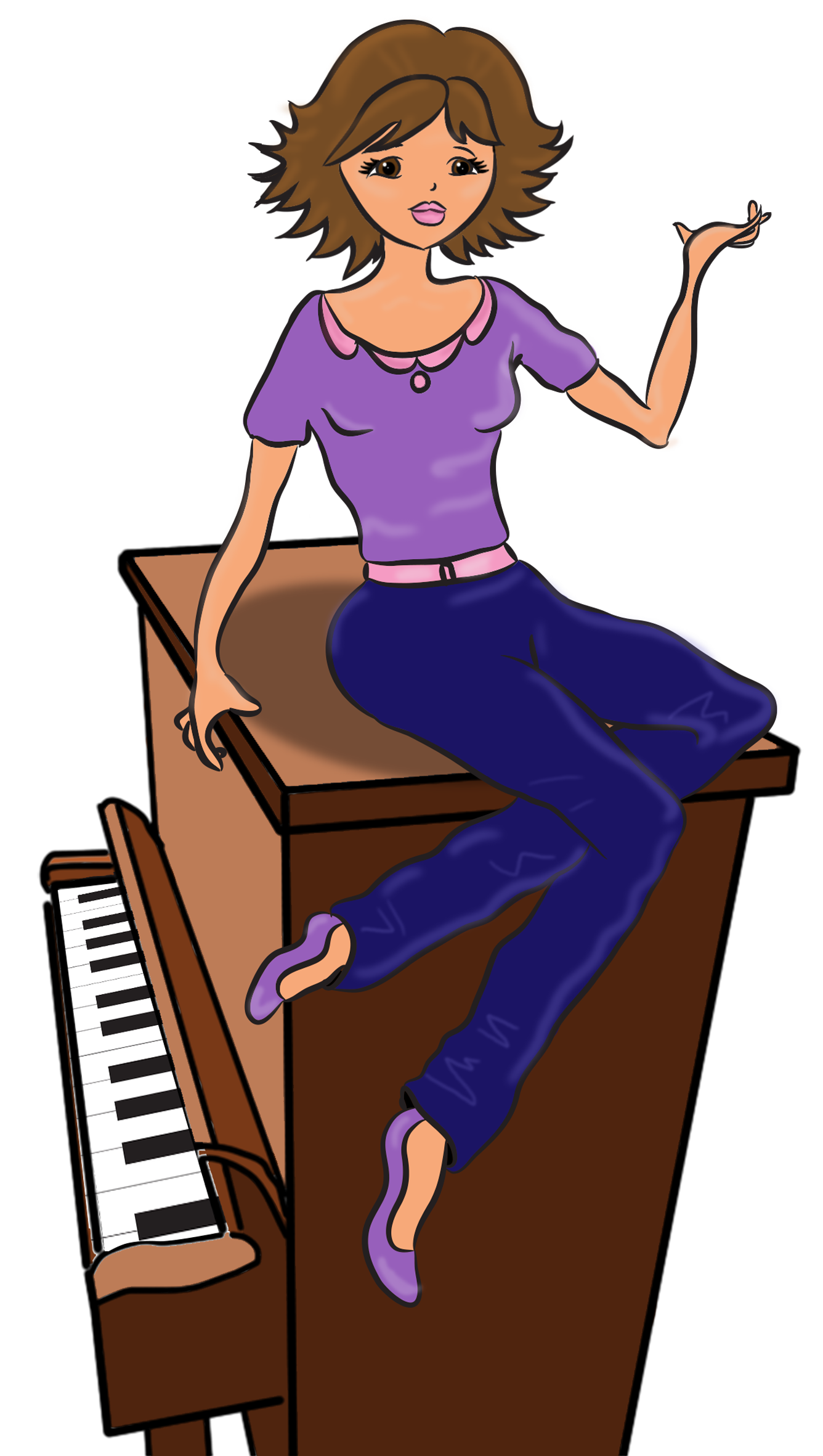 Workshop clipground lessons newcastle. Girl clipart piano