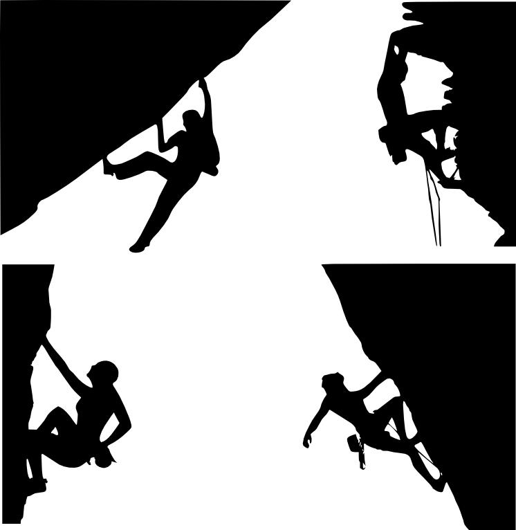 Clip art . Girls clipart rock climbing