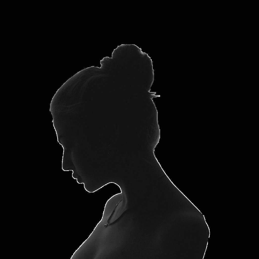 Remix sticker sillhouette woman. Girl clipart shadow