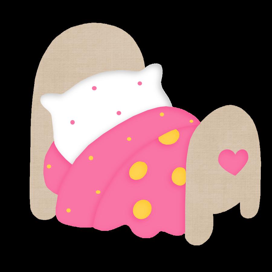 girl clipart sleeping bag