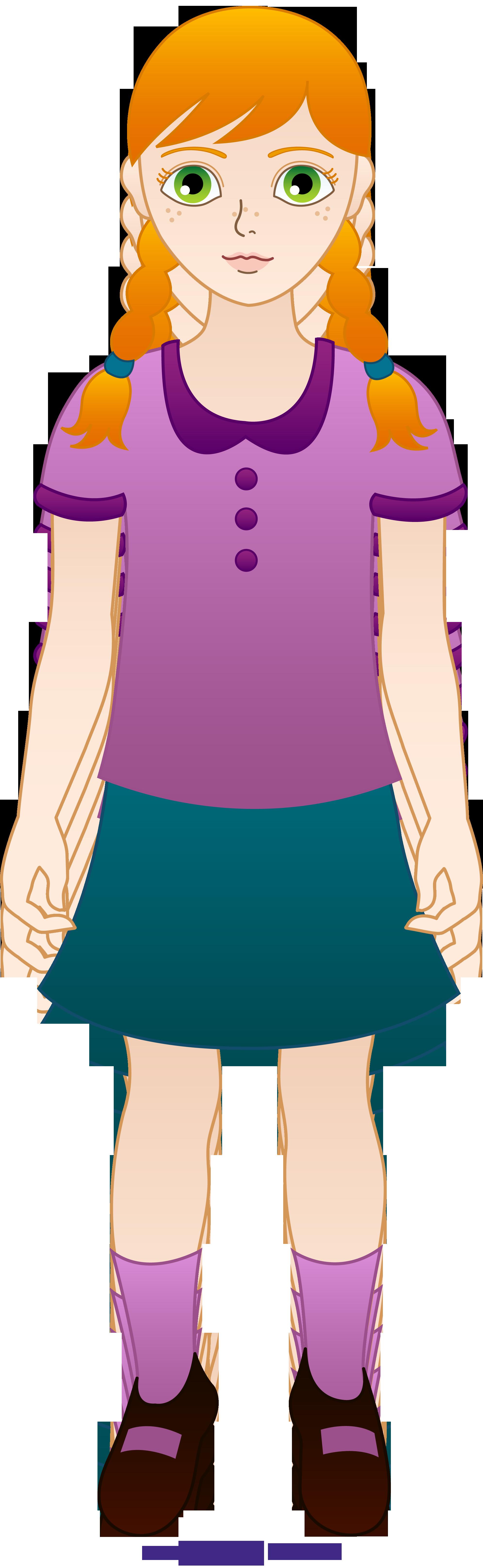 Girl clipart uniform. Little redhead sweet clip