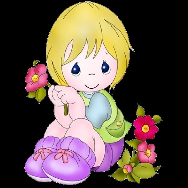 Page clip art me. Lady clipart flower