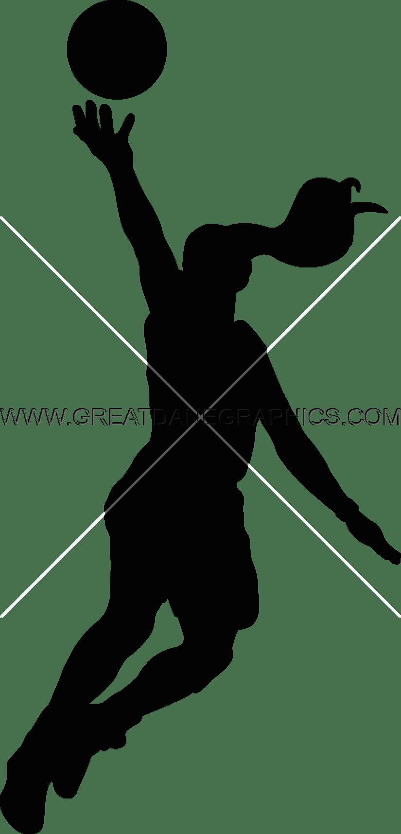 Layup production ready artwork. Girls clipart basketball player