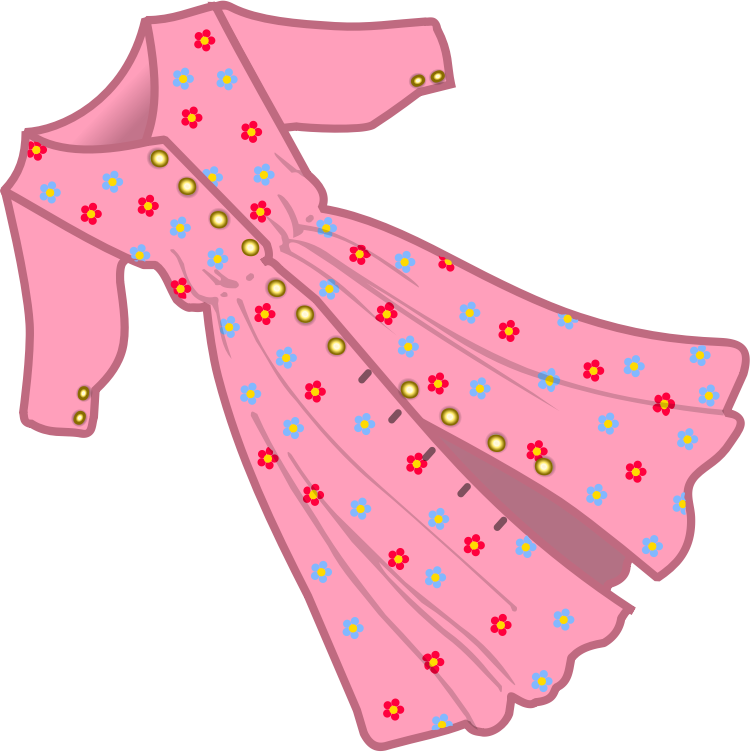 Girls clipart dress. Pin by elodie saphoret