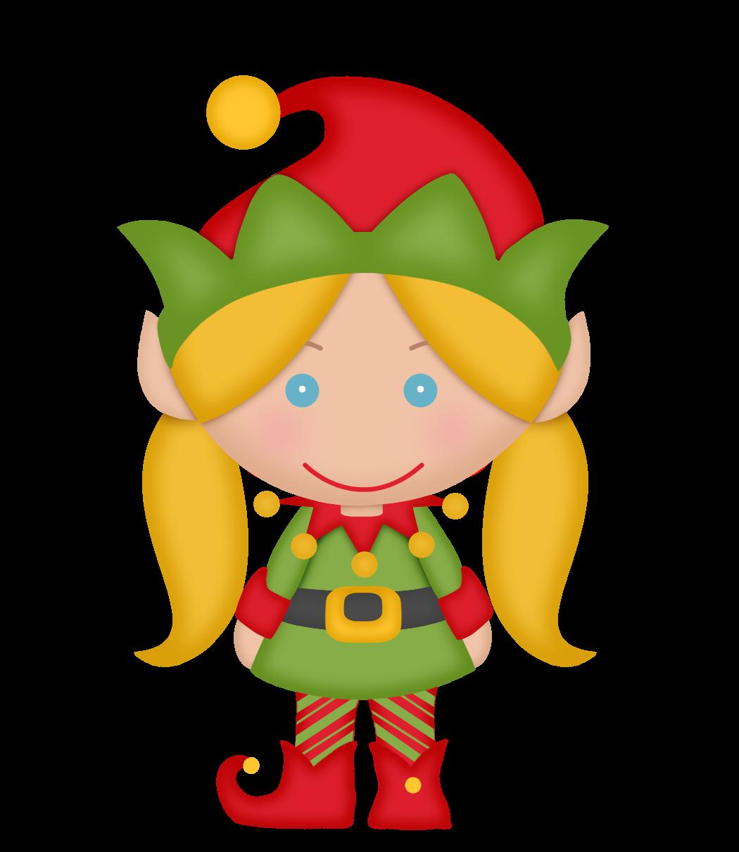 Gifs tubes de natal. Girls clipart elf
