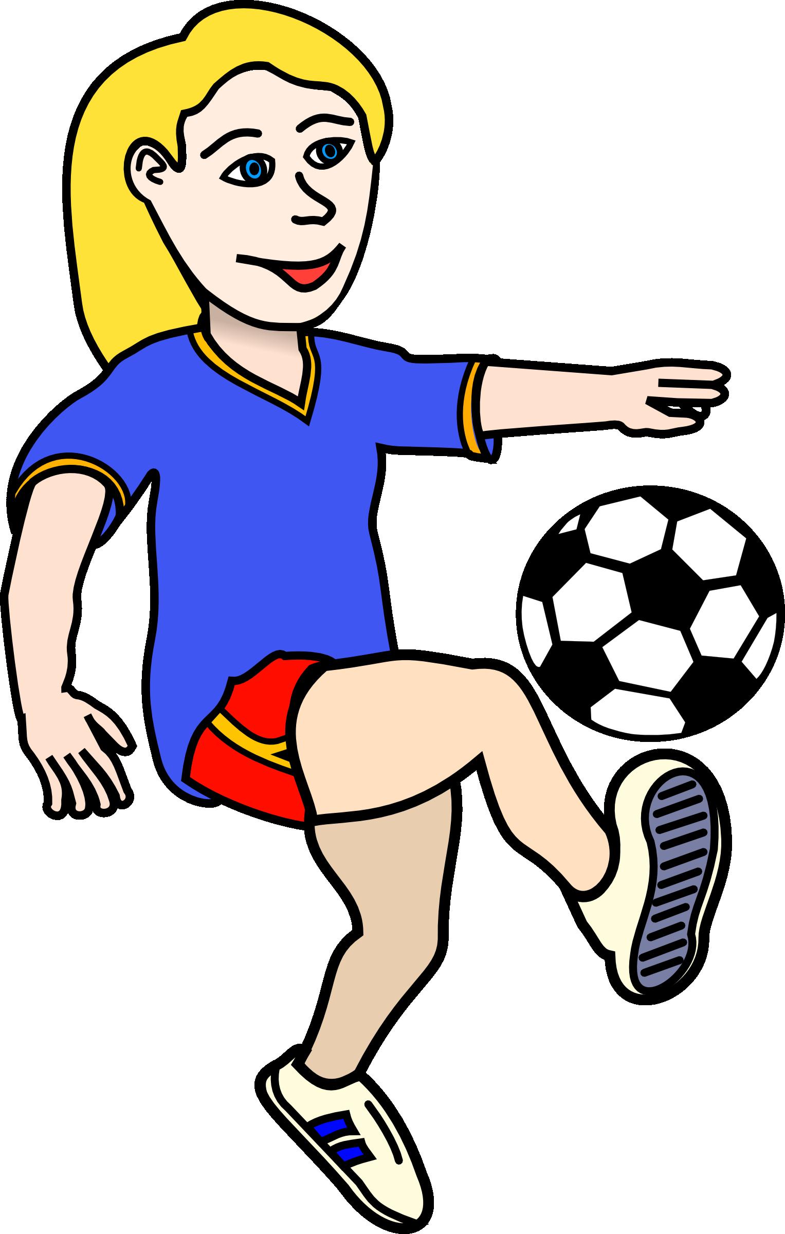 Volunteering clipart soccer. Girl kicking ball clip