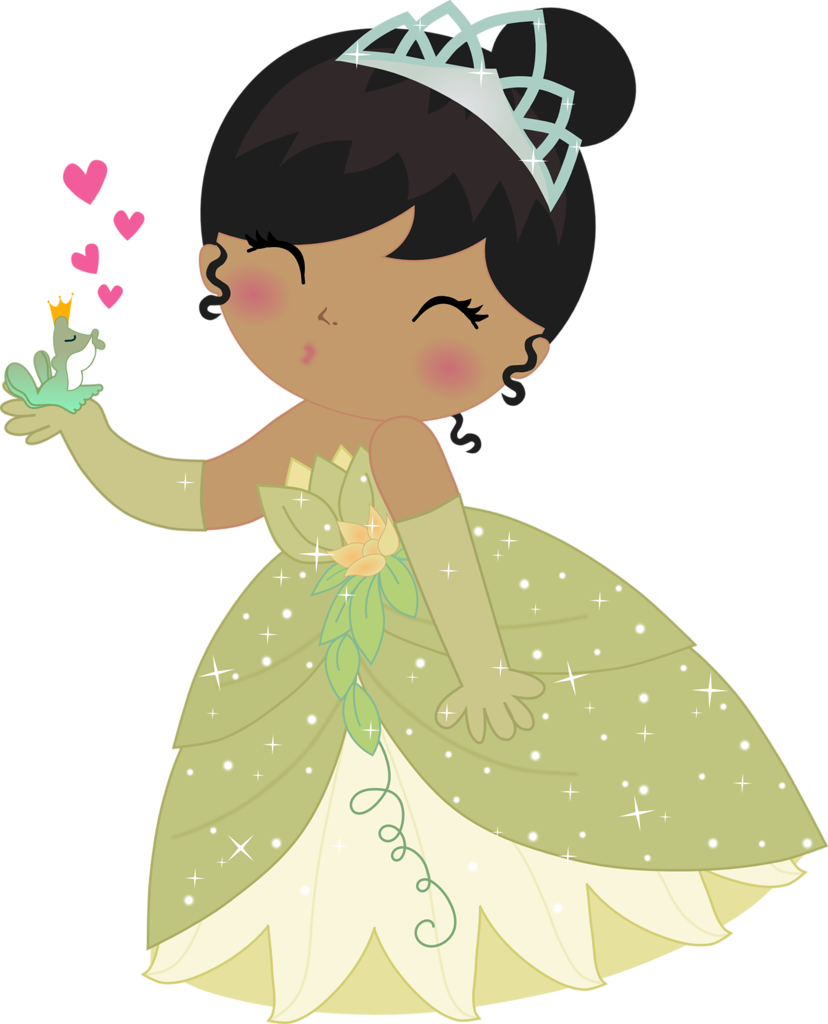 Princess png girl and. Girly clipart frog