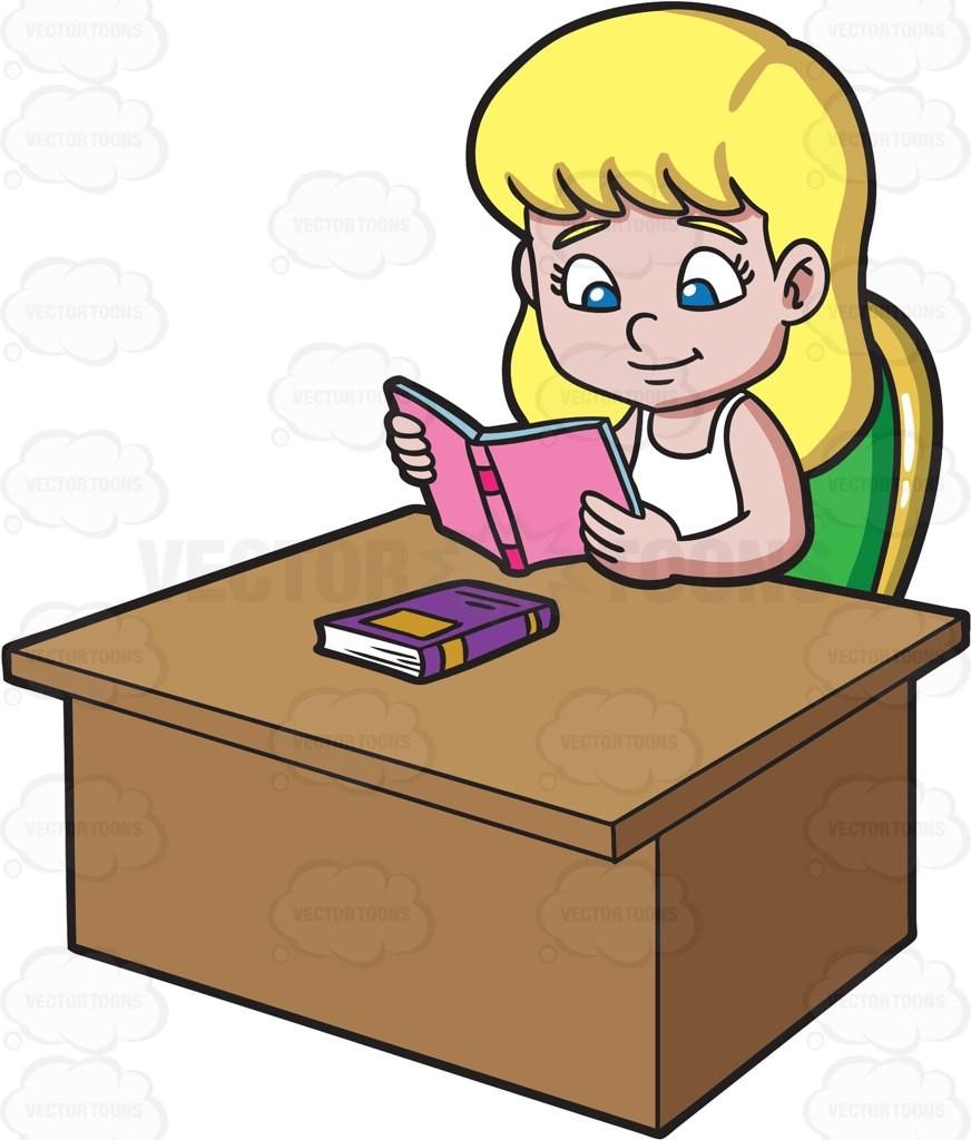 At of a girl. Girls clipart homework