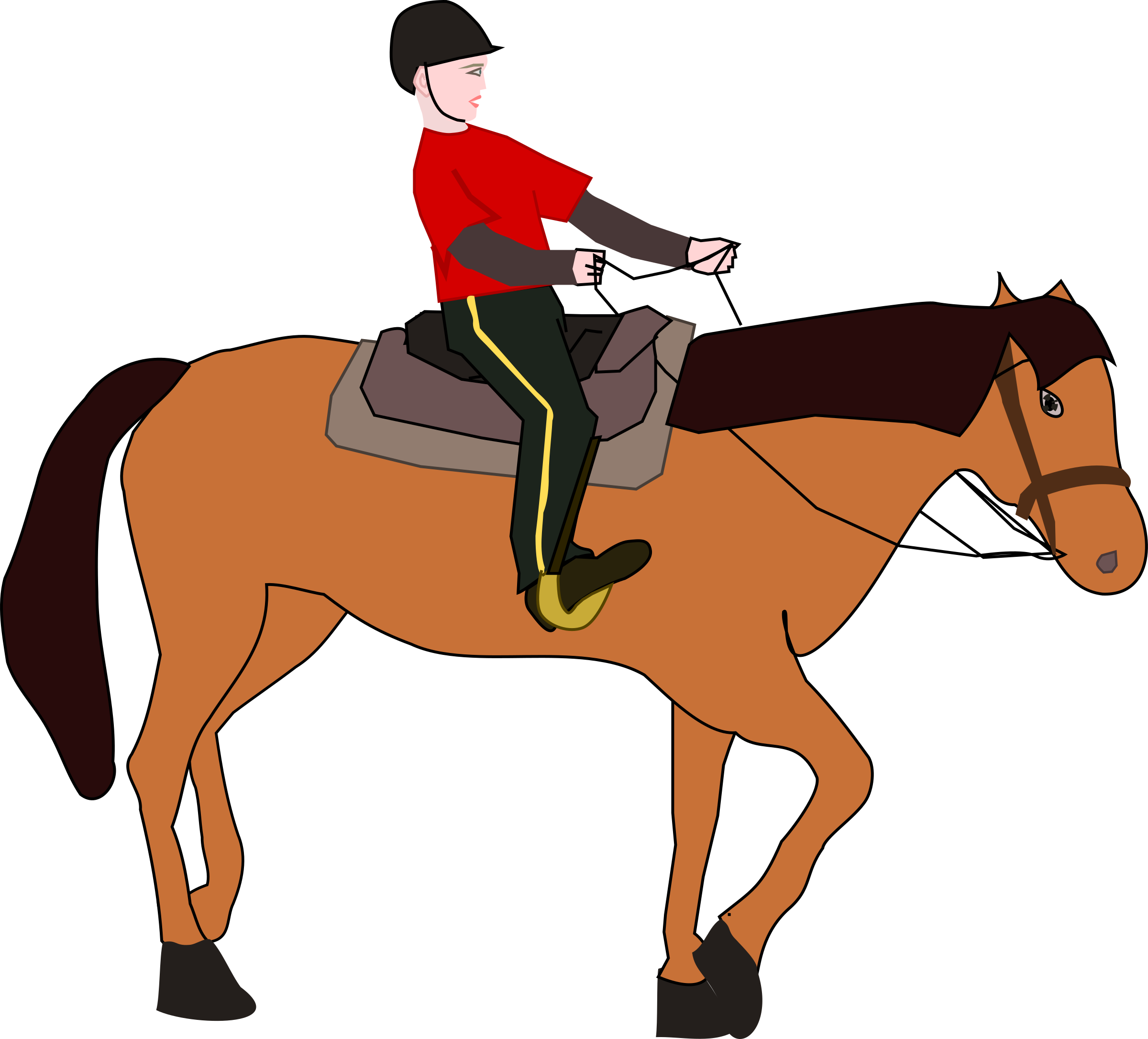 collection of person. Horse clipart transportation