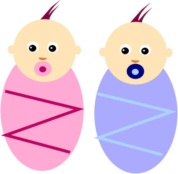 Infants clip art at. Twins clipart boy girl twin