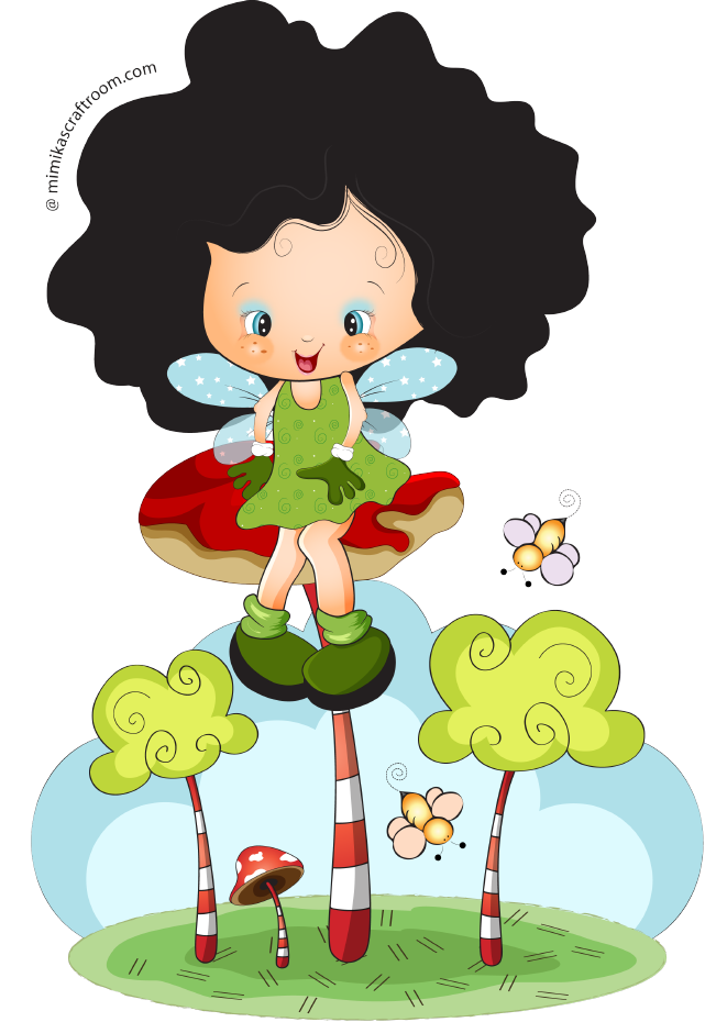 png girl and. Land clipart fairy land