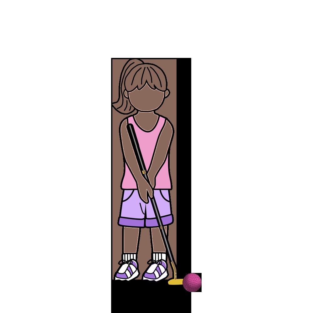 Lady clipart golf. Miniature kids birthday t