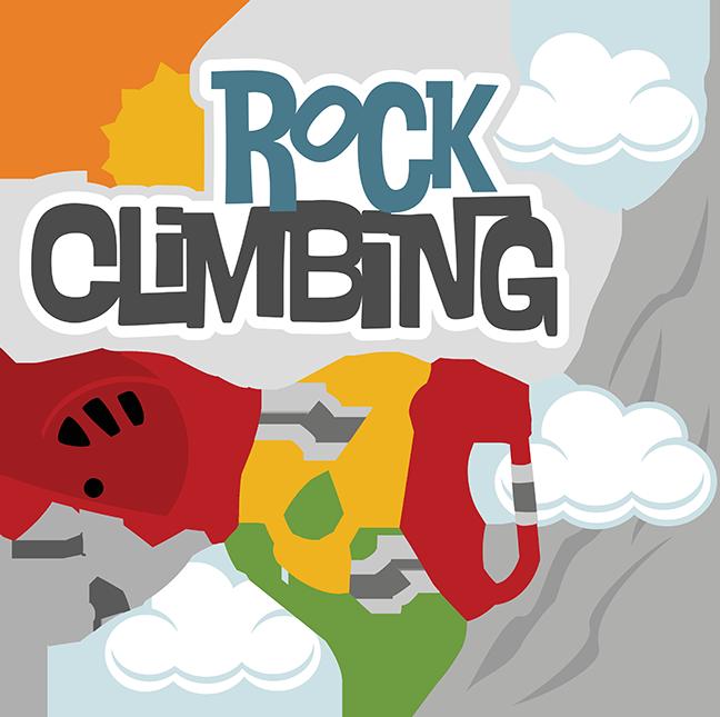 Girls clipart rock climbing. Svg files for scrapbooks