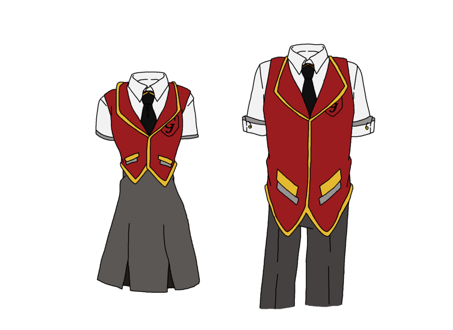 Girls clipart uniform. Gryffindor uniforms updated by