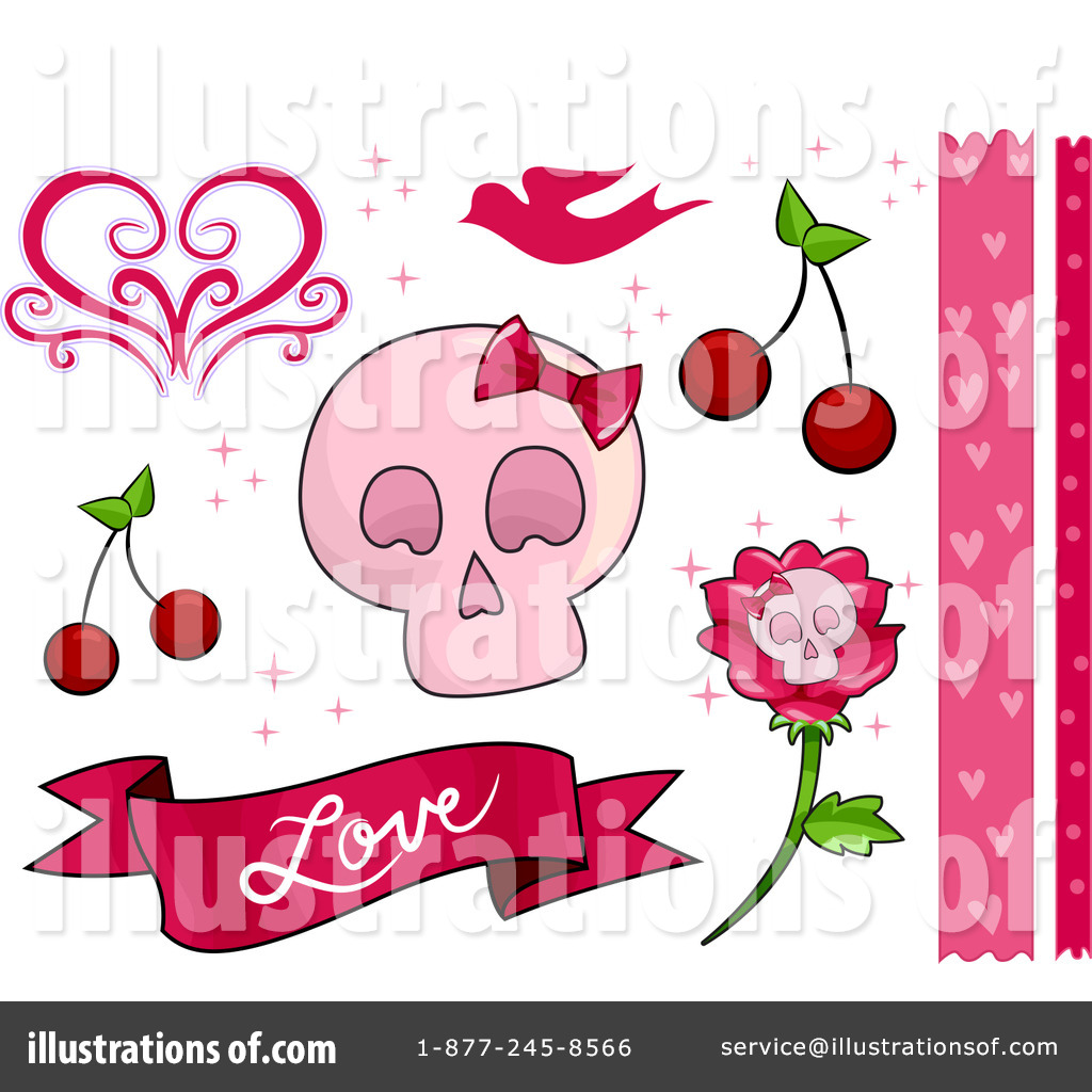 Girly clipart. Illustration by bnp design