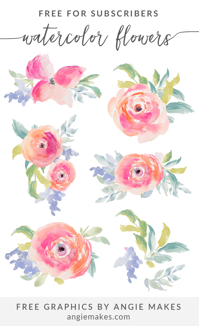 Free graphics and watercolor. Girly clipart
