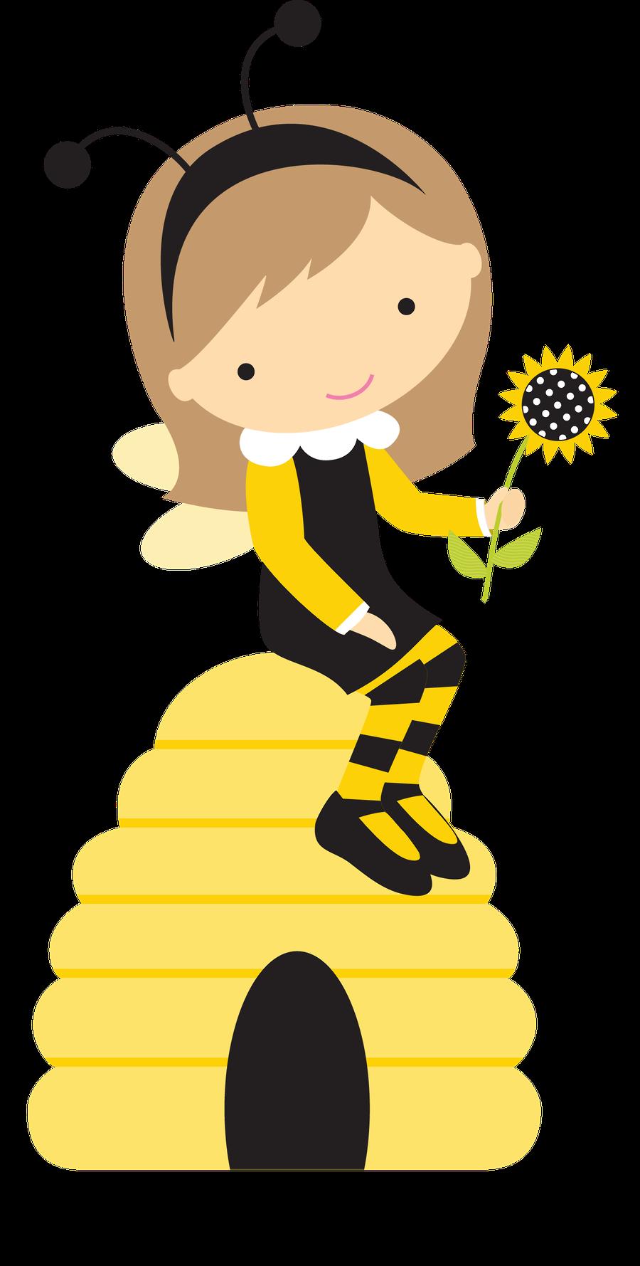 Abelhinhas minus para experimentar. Girly clipart bee