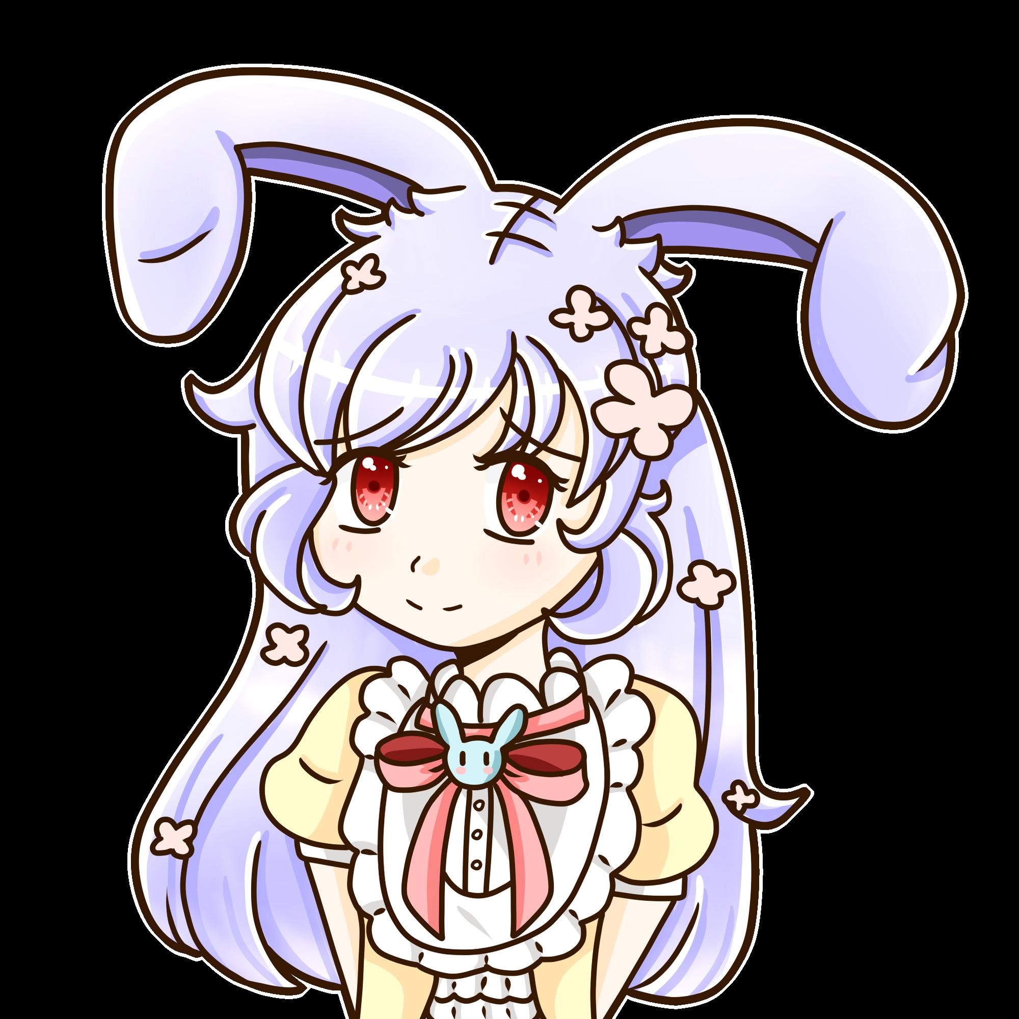 Girly clipart bunny. Girl by leafybearu on