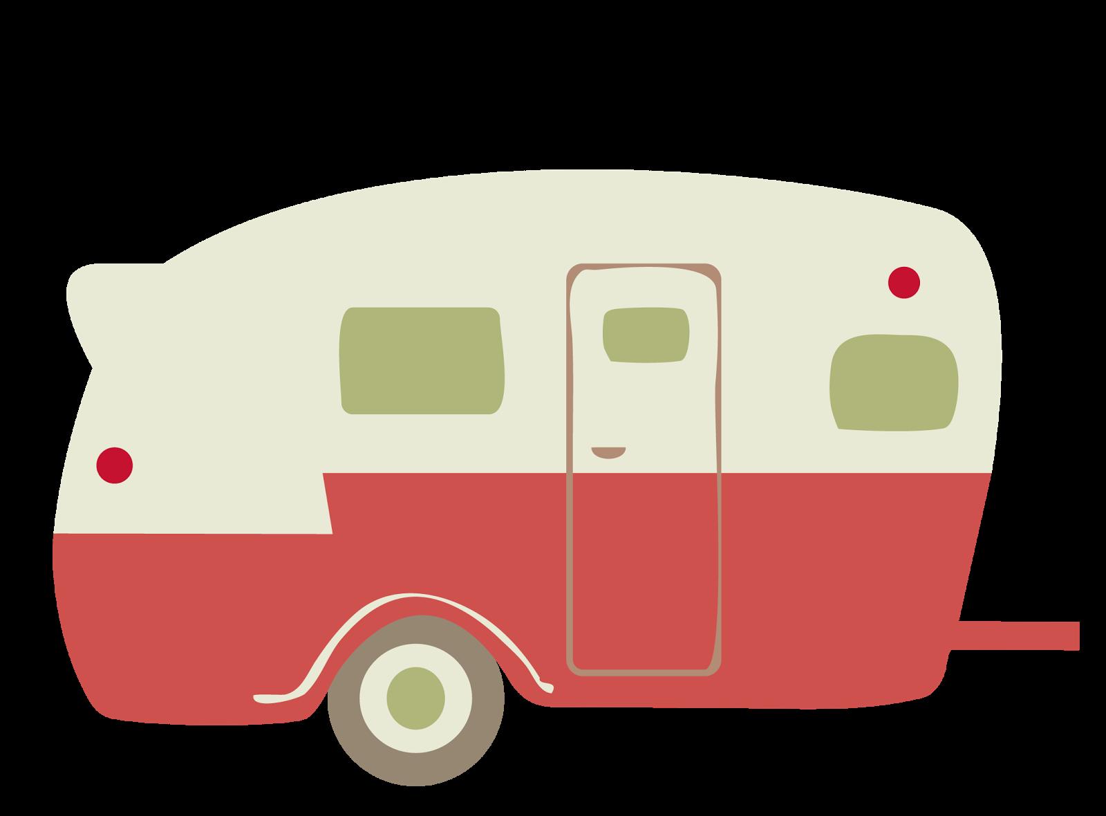 Camper clipart girly.  huge freebie download