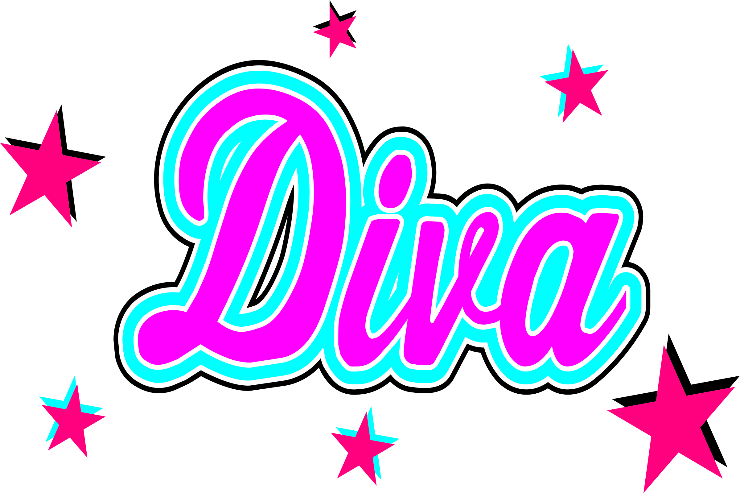 Girly clipart diva.  collection of png