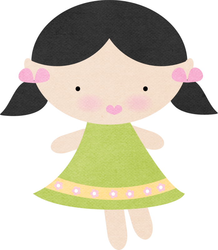 Girly clipart doodle.  scrap for girls