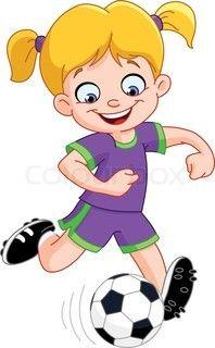 . Girly clipart football