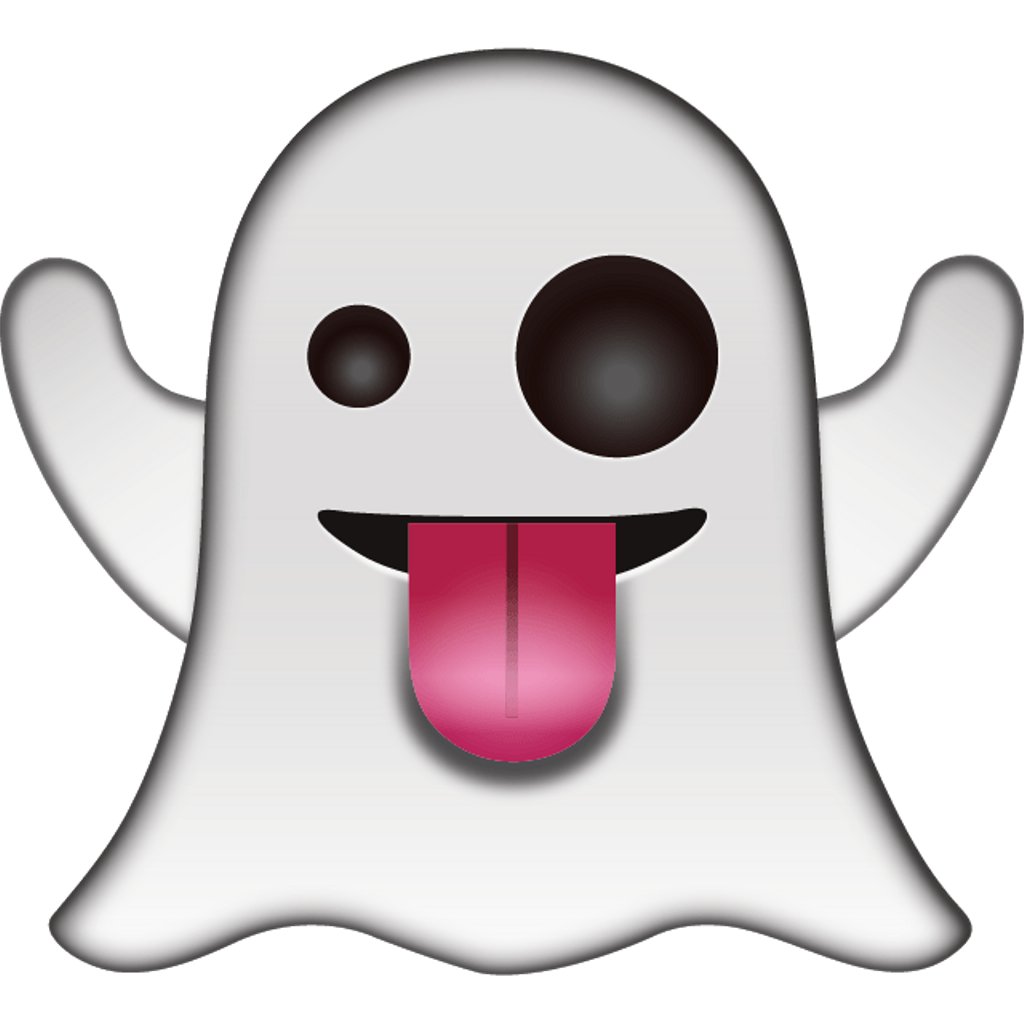 Tongue bow cute transparent. Girly clipart ghost