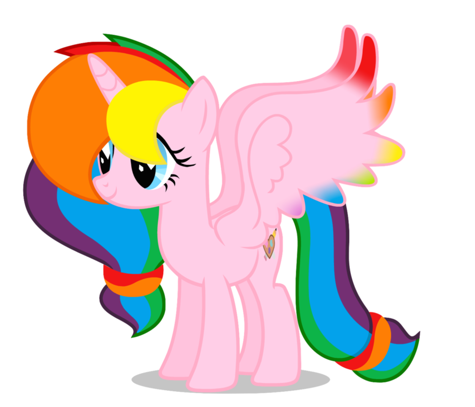 Rainbow splash v with. Girly clipart horse