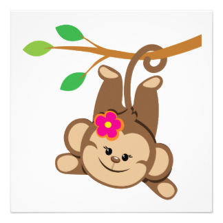 Monkey clipart baby girl. Free cliparts download clip