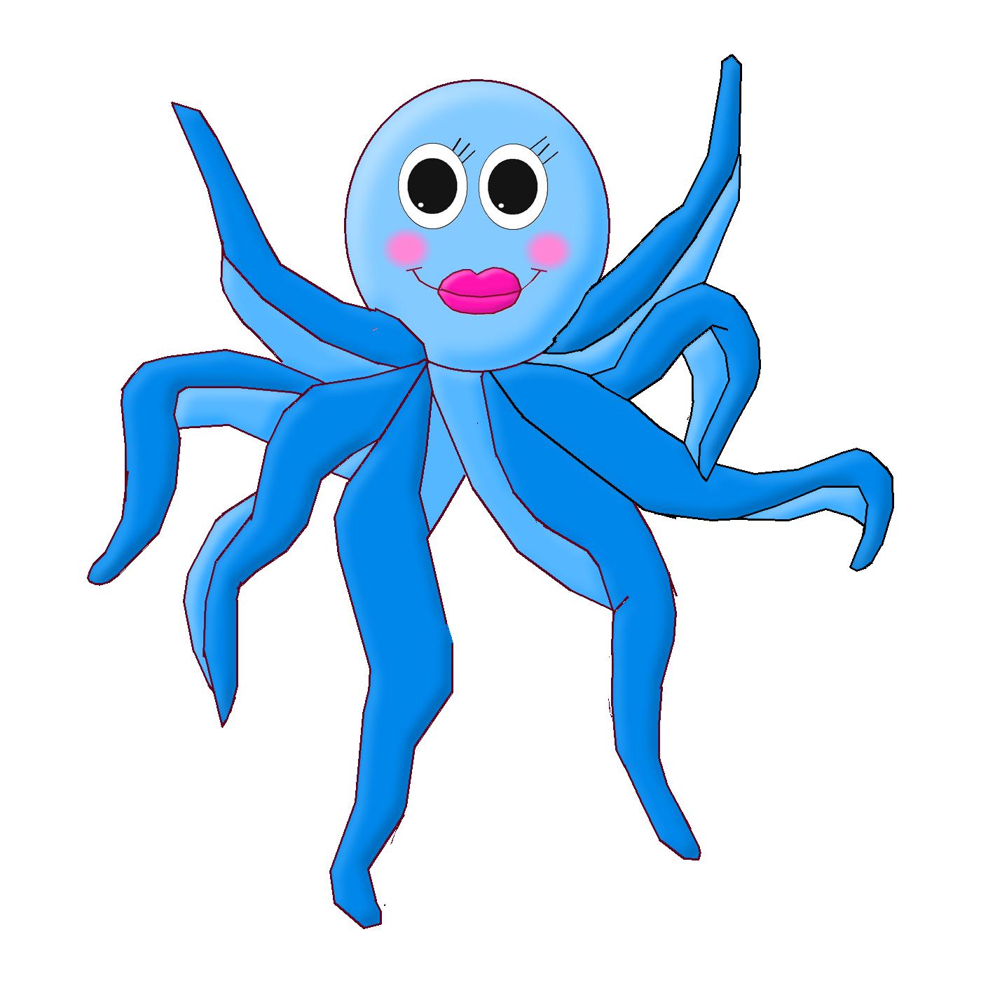 Girly clipart octopus. Fundo do mar pinterest