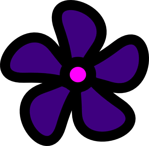 Girly clipart purple. Flower clip art at