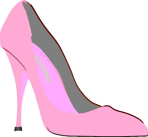 Clip art at clker. Pink clipart heel
